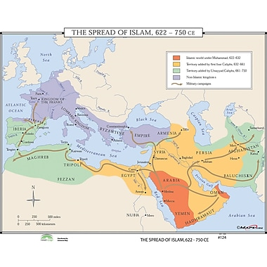 Universal Map World History Wall Maps - Spread of Islam