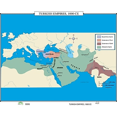 Universal Map World History Wall Maps - Turkish Empires