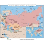 Universal Map World History Wall Maps - Russia & the Former Soviet Union 1991