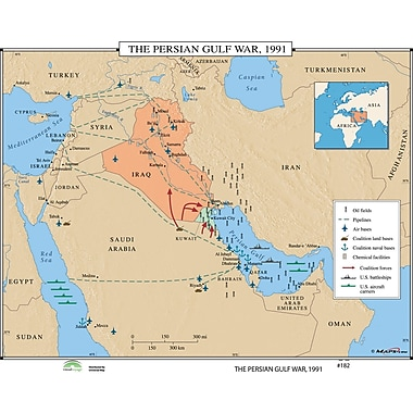 Universal Map World History Wall Maps - The Persian Gulf War 1991