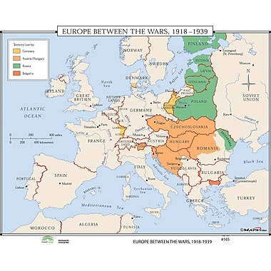 Universal Map World History Wall Maps - Europe Between Wars