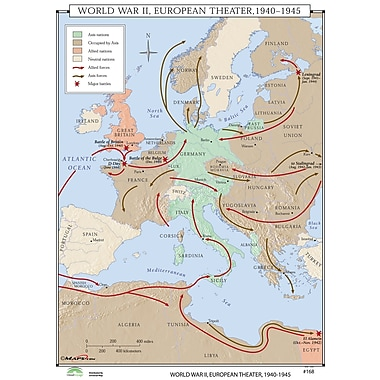 Universal Map World History Wall Maps - World War II European Theater