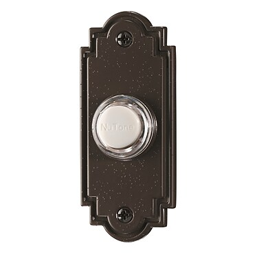 Broan Lighted Flat Pushbutton; Oil Rubbed Bronze