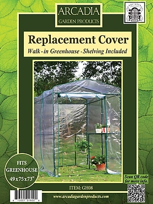 Arcadia Garden Products Greenhouse Replacement Cover; 1-Sided