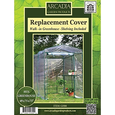Arcadia Garden Products Greenhouse Replacement Cover; 1-Sided Walk-in