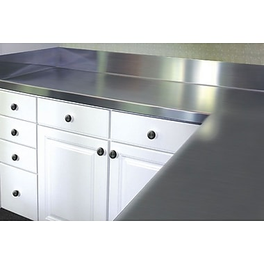 A-Line by Advance Tabco Stainless Steel Counter Top w/ Backsplash; 6.5'' H x 48'' W x 24'' D