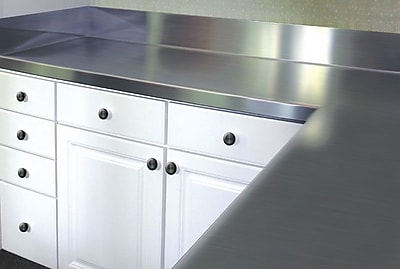 A-Line by Advance Tabco Stainless Steel Counter Top w/ Backsplash; 6.5'' H x 30'' W x 30'' D