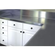 A-Line by Advance Tabco Stainless Steel Counter Top w/ Blacksplash; 13'' H x 36'' W x 30'' D