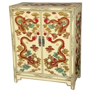 Oriental Furniture Dragons 6 Pair Shoe Storage Cabinet