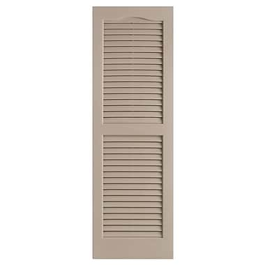 Alpha Shutters Exterior 14'' x 35'' Louvered Shutter (Set of 2); Sandstone