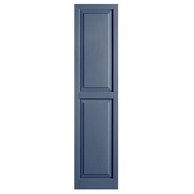 Alpha Shutters Exterior 15'' x 63'' Raised Panel Shutter (Set of 2); Blue