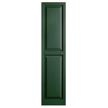 Alpha Shutters Exterior 15'' x 71'' Raised Panel Shutter (Set of 2); Green