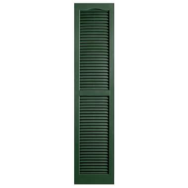 Alpha Shutters Exterior 14'' x 66'' Louvered Shutter (Set of 2); Green