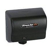 American Dryer Adjustable High Speed 100 - 240 Volt Hand Dryer in Black