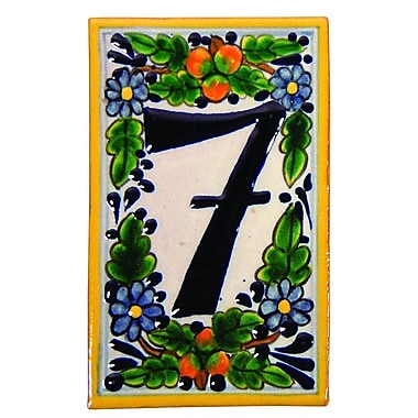Native Trails Tile House Number; 7