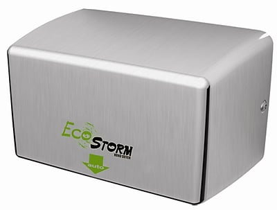 Palmer Fixture Ecostorm Touchless High Speed 220/240 Volt Hand Dryer in Brushed Stainless