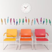 Walls Need Love Decorative Feathers Mini-Pack Wall Decal