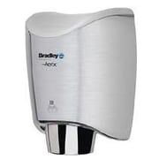 Bradley Corporation Surface-Mounted Sensor-Operated Hand Dryer w/ Cover in Stainless Steel