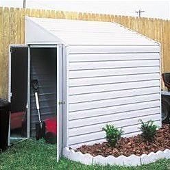Arrow Yardsaver 4 ft. 1 in. W x 6 ft. 8 in. D Metal Lean-To Storage Shed