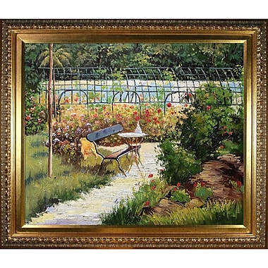 Tori Home 'The Bench' by Edouard Manet Framed Oil Painting Print on Wrapped Canvas