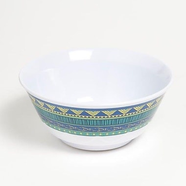 Galleyware Company Yacht and Home 20 oz. On Lake Time Melamine Non-Skid Soup/Cereal Bowl (Set of 4)