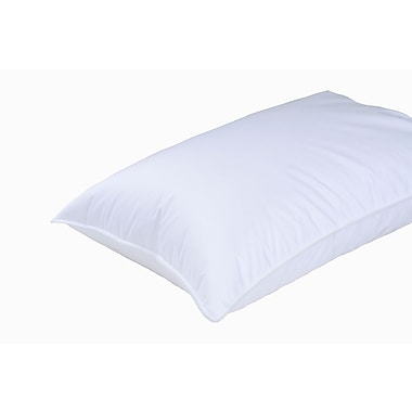 Highland Feathers 700 Ply (350X2) Standard Size 650 Loft Canadian White Goose Down Pillow, Standard Fill, 15Oz
