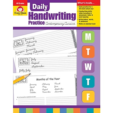 Evan-Moor Educational Publishers Daily Handwriting Practice: Contemporary Cursive for Grades K-6 (793)