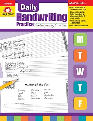 Evan-Moor Educational Publishers Daily Handwriting Practice: Contemporary Cursive for K-6 (793)