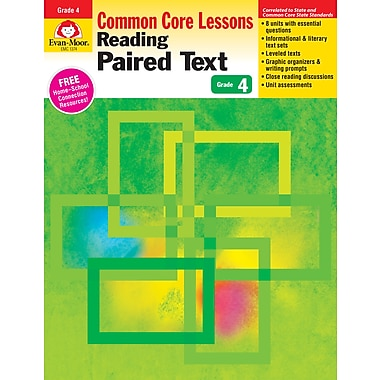 Evan-Moor Educational Publishers Reading Paired Text: Common Core Lessons for Grade 4, Each (1374)