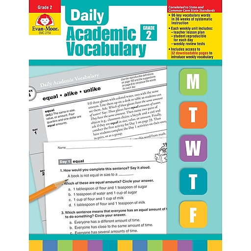 Evan-Moor Educational Publishers Daily Academic Vocabulary for Grade 2  (2758)