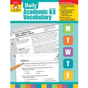 Evan-Moor Educational Publishers Daily Academic Vocabulary for Grade 3; Each (2759)