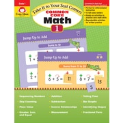 Evan-Moor Educational Publishers Take It to Your Seat: Common Core Math Centers Grade 1 Ed.1 (3071)