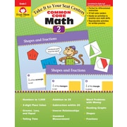Evan-Moor Educational Publishers Take It to Your Seat: Common Core Math Centers Grade 2 Ed. 1 (3072)