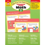Evan-Moor Educational Publishers Take It to Your Seat: Common Core Math Centers Grade 5 Ed.1 (3075)