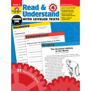 Evan-Moor Educational Publishers Read and Understand with Leveled Texts for Grade 4 (3444)