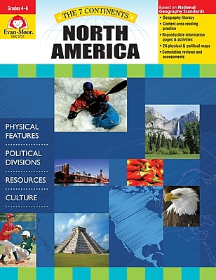 Evan-Moor Educational Publishers 7 Continents: North America Grades 4-6+ Ed. 1 (3731)