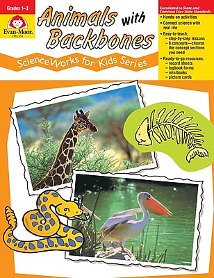 Evan-Moor Educational Publishers ScienceWorks for Kids: Animals with Backbones Grades 1-3 (854)
