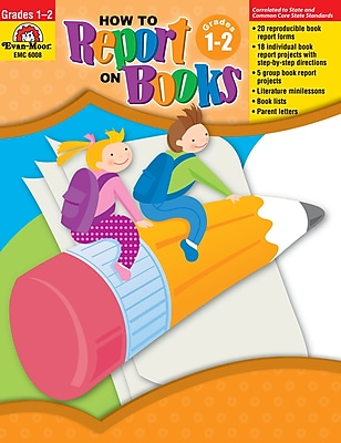 Evan-Moor Educational Publishers How to Report on Books for Grades 1-2 (6008)