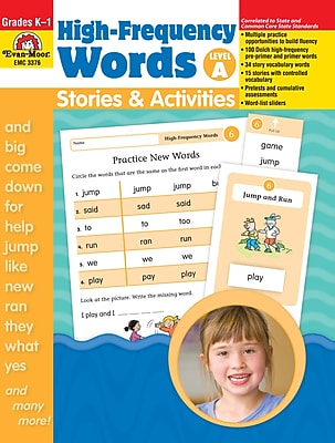 Evan-Moor Educational Publishers High Frequency Words: Stories & Activities Level A for K-1 (3377)