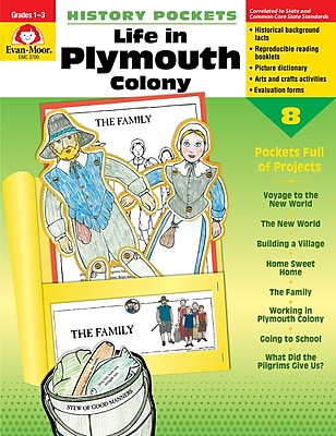 Evan-Moor Educational Publishers History Pockets: Life in Plymouth Colony Grades 1-3 (3700)