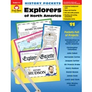 "Evan-Moor Educational Publishers ""History Pockets: Explorers of North America Grades 4-6"" (3708)"