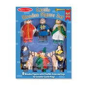 "Castle Wooden Figure Set,11.05"" x 8.25"" x 1.95"", (285)"