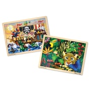 "Melissa & Doug Jigsaw Bundle 48pc - Boy (2-Puzzle Bundle), 15.5"" x 11.7"" x 1"", (2073)"