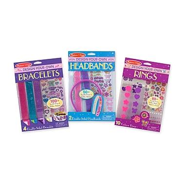 Melissa & Doug DYO Accessories Bundle - Bracelets, Headbands & Rings, 9.7