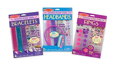 Melissa & Doug DYO Accessories Bundle - Bracelets, Headbands & Rings, 9.7