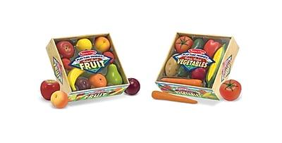 Melissa & Doug Combo Fruit & Veggies Set, 10