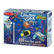 "Melissa & Doug Flr 100-Piece ""Action"" Underwater Floor Puzzle, 12 x 9.5 x 3 (2860)"