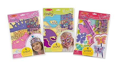 Melissa & Doug Simply Crafty Bundle, Tiaras, Masks & Wands, 11.45 x 8.2 x 0.75 (3196)