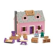 Melissa & Doug Fold & Go Dollhouse, 13.55 x 10.95 x 7.3 (3701)