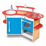 Melissa & Doug Cook's Corner Wooden Kitchen, 40.65 x 19.65 x 5.75 (3950)
